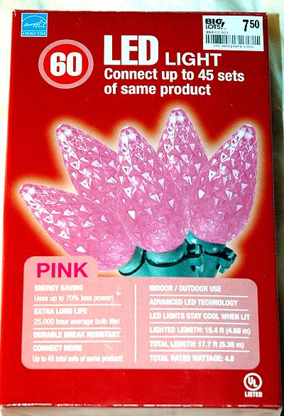 big lots pink leds - Pink Led Christmas Lights
